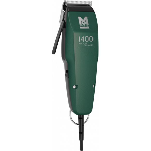 Aparat de tuns MOSER 1400 Green Edition, 7 trepte, 0.7 - 18 mm, verde