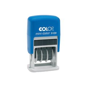 Stampila COLOP S120, mini-datiera, plastic