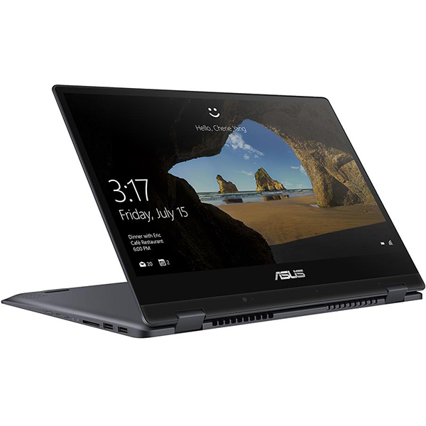 "Laptop 2 in 1 ASUS VivoBook Flip TP412UA-EC094T, 14"" Full HD Touch, Intel Core i3-8130U pana la 3.4GHz, 4GB, SSD 256GB, Intel UHD Graphics 620, Windows 10 Home"