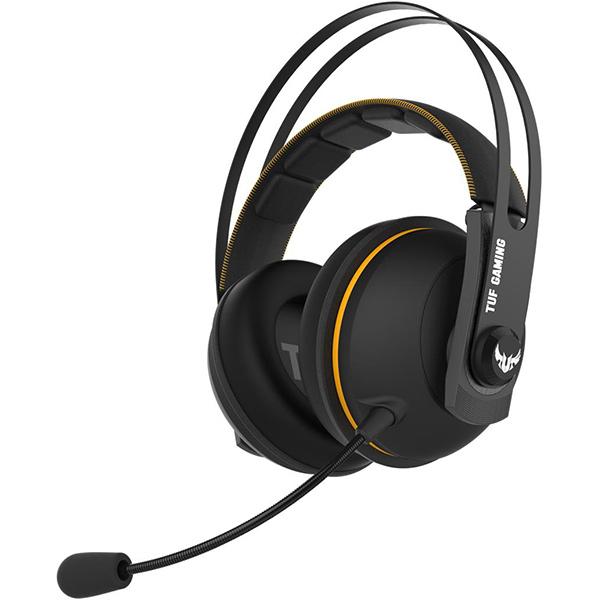 Casti Gaming Wireless ASUS TUF Gaming H7, 7.1 surroud, multiplatforma, USB, negru-galben