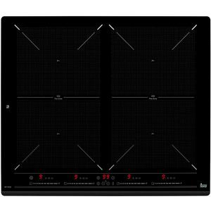 Plita incorporabila TEKA SPACE IZF 6424 , electrica/inductie, 4 zone de gatit, slider touch control individual, 2 zone extinse, negru