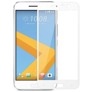 Folie Tempered Glass pentru HTC 10, SMART PROTECTION, fulldisplay, alb