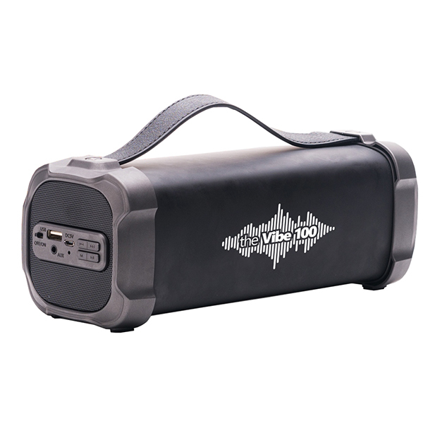 Boxa portabila E-BODA VIBE100, Bluetooth, USB, Radio FM, negru-gri