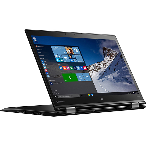 "Laptop 2 in 1 LENOVO ThinkPad X1 Yoga, Intel Core i5-6200U pana la 2.8GHz, 14"" QHD Touch, 8GB, SSD 256GB, Intel HD Graphics 520, Windows 10 Pro, Negru"