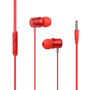 Casti PROMATE Travi, Cu Fir, In-ear, Microfon, rosu