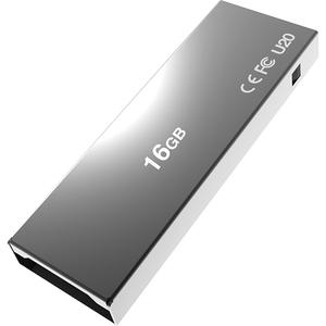 Memorie portabila ADDLINK U20, 16GB, USB 2.0, Titanium