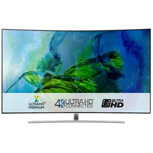 Televizor curbat QLED Smart Ultra HD 4K, 138cm, SAMSUNG QE55Q8CAM