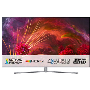 Televizor QLED Smart Ultra HD, Tizen, 4K  HDR, 163 cm, SAMSUNG QE65Q8FN, Eclipse Silver