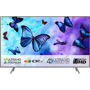 Televizor QLED Smart Ultra HD, Tizen, 4K HDR, 208 cm, SAMSUNG QE82Q6FNATXXH, Argintiu