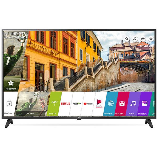 Televizor LED Smart Ultra HD 4K, HDR, 152 cm, LG 60UK6200PLA