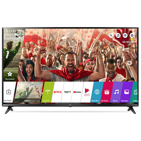 Televizor LED Smart Ultra HD 4K, HDR, 164 cm, LG 65UK6100PLB