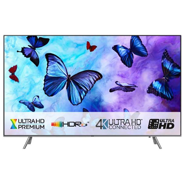 Televizor QLED Smart Ultra HD, Tizen, 4K HDR, 123cm, SAMSUNG QE49Q6FNATXXH, Argintiu