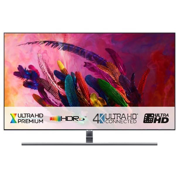 Televizor QLED Smart Ultra HD,Tizen, 4K  HDR, 189 cm, SAMSUNG QE75Q7FN, Eclipse Silver