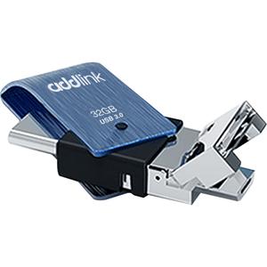 USB Flash 3 in 1 ADDLINK T80 USB3.0-Type C-Micro USB, 32GB, Albastru