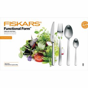 Set tacamuri FISKARS Functional Form 1002961, 24 piese, inox, argintiu mat