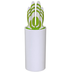 Set cutite XAVAX 111543, 5 piese, 19.5-33.5cm, alb-verde