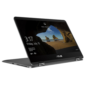 "Laptop 2 in 1 ASUS ZenBook Flip 14 UX461FN-E1022T, Intel® Core™ i7-8565U pana la 4.6GHz, 14"" Full HD, 16GB, SSD 512GB, NVIDIA GeForce MX150 2GB, Windows 10 Home, Slate Grey"