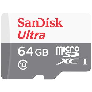 Card de memorie SANDISK Ultra microSDHC 64GB, clasa 10 UHS-I, 80MBs