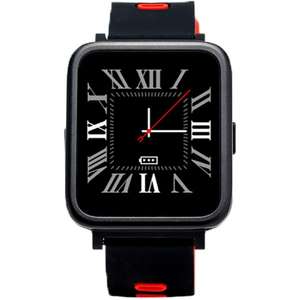 Smartwatch E-BODA Smart Time 350, Android/iOS, silicon, rosu