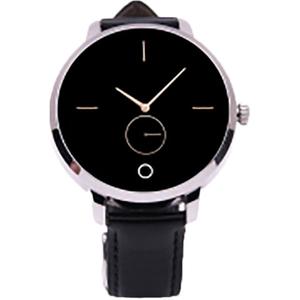 Smartwatch E-BODA Stime Raven, Android/iOS, piele, Silver