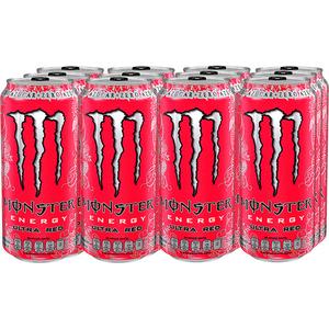 Bautura energizanta MONSTER En Ultra Red bax  0.5L x 12 cutii