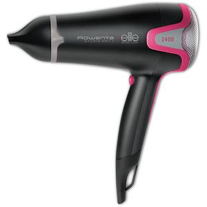 Uscator de par ROWENTA Studio Dry+Effiwatts Elite CV5432F0, 6 viteze, 2400W, negru-roz