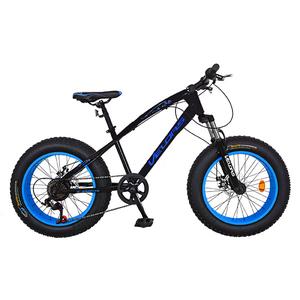 """Bicicleta FAT BIKE copii VELORS V2000A, 20"""", otel, negru-albastru"""