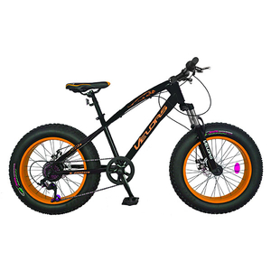 "Bicicleta FAT BIKE copii VELORS V2000A, 20"", otel, negru-portocaliu"