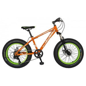 "Bicicleta FAT BIKE de copii VELORS V2019B, 20"", otel, portocaliu"