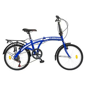 """Bicicleta pliabila VELORS V2055A, 20"""", albastru-alb"""
