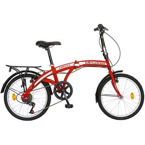 """Bicicleta pliabila VELORS V2055A, 20"""", rosu-alb"""