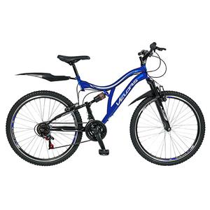 """Bicicleta Mountain Bike-HT VELORS V2459A, 24"""", Full Suspension, cadru otel, negru - albastru"""