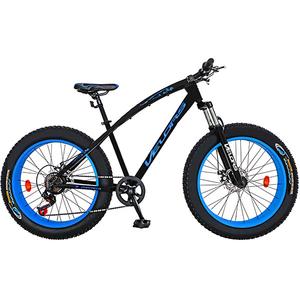 """Bicicleta FAT BIKE VELORS V2600A, 26"""", cadru otel, negru - albastru"""
