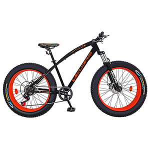 """Bicicleta FAT BIKE VELORS V2600A, 26"""", cadru otel, negru - portocaliu"""