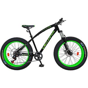 """Bicicleta FAT BIKE VELORS V2600A, 26"""", cadru otel, negru - verde"""