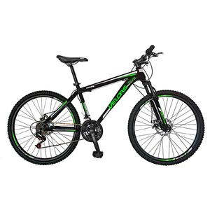 "Bicicleta Mountain Bike VELORS V2609A, 26"", cadru otel, negru - verde"