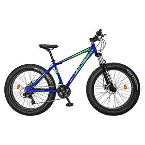 "Bicicleta FAT BIKE VELORS V2619B, 26"", cadru otel, negru - verde"