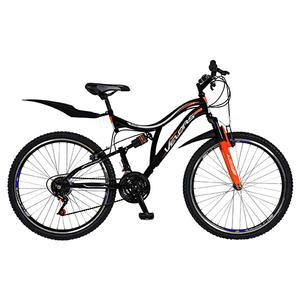 """Bicicleta Mountain Bike-HT VELORS V2659A, 26"""", Full Suspension, cadru otel, negru - portocaliu"""