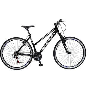 """Bicicleta Mountain Bike Urban VELORS V2700A, 27"""", cadru aluminiu, negru - alb"""