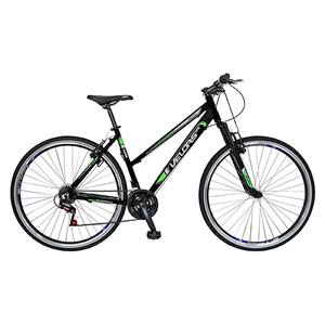 """Bicicleta Mountain Bike Urban VELORS V2700A, 27"""", cadru aluminiu, negru - verde"""
