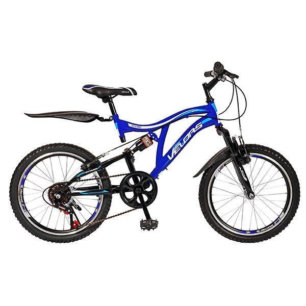 "Bicicleta de copii MTB F.S. VELORS V2059A, 20"", otel, negru-albastru"
