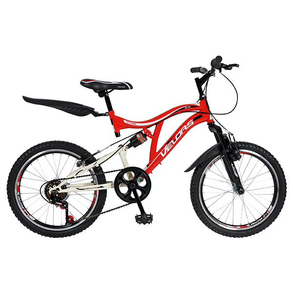 "Bicicleta de copii MTB F.S. VELORS V2059A, 20"", otel, rosu-alb"