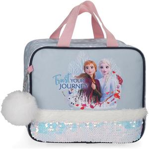 Geanta pentru cosmetice adaptabila DISNEY Frozen Trust Your Journey 25445.61, albastru