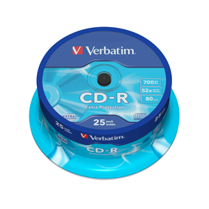 CD-R VERBATIM VB0096, 52x,  0.7GB, 25 buc