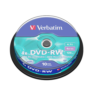 DVD-RW VERBATIM VB1022, 4x,  4.7GB, 10 buc