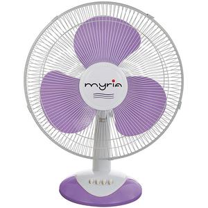 Ventilator de birou MYRIA MY4204, 3 trepte de viteza, 40cm, 40W, alb-violet