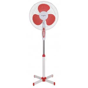 Ventilator cu picior MYRIA MY4208RD, 3 trepte de viteza, 40cm, 40W, alb-rosu