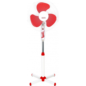 Ventilator cu picior MYRIA MY4211, 3 trepte viteza, 40cm, 40W, alb - rosu