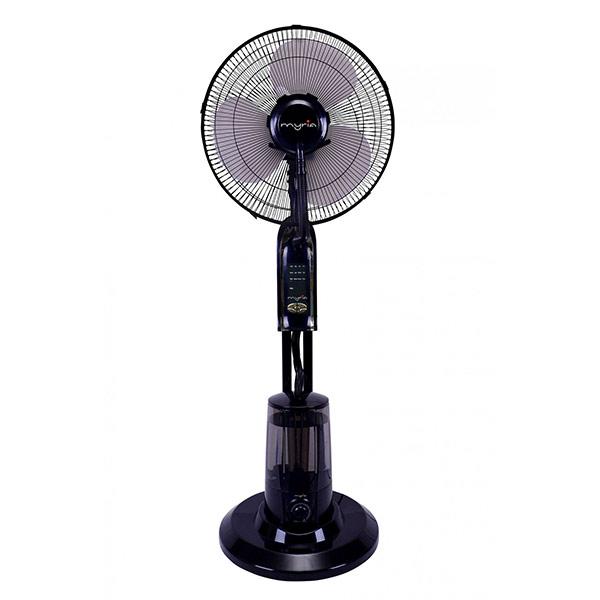 Ventilator cu pulverizare MYRIA MY4005, 3 trepte de putere, 40cm, 75W, negru