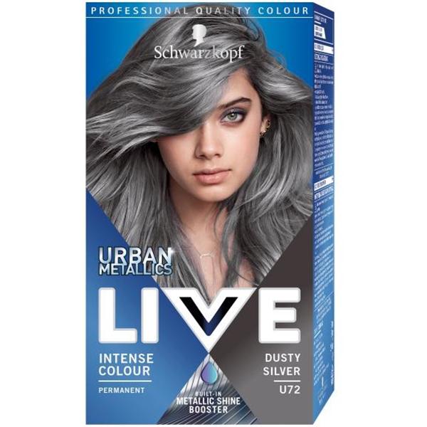 Vopsea de par LIVE Color Urban Metallics, U72 Dusty Silver, 142.5ml